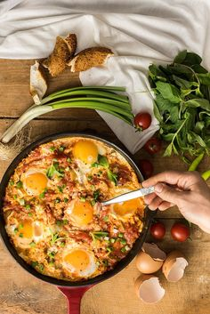 Turkish-style egg dish menemen is an amazingly tasty breakfast, lunch and dinner recipe. Simple, quick and oh so yummy!