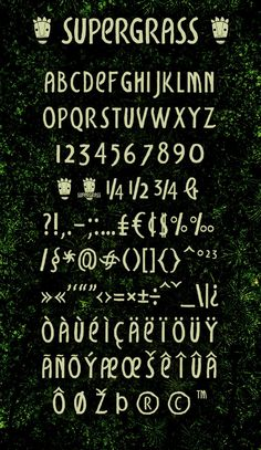 Supergrass FREE FONT by Luca Ferrario