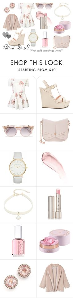 """Blind Date"" by teresa-mt ❤ liked on Polyvore featuring WithChic, Pura López, Jimmy Choo, Ted Baker, Laura Ashley, NARS Cosmetics, Design Lab, By Terry, Essie and Dana Rebecca Designs"