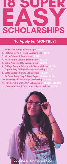College Life Hacks, Life Hacks For School, School Study Tips, School Tips, School Ideas, Scholarships For Graduate Students, Student Scholarships, Apply For College, Grants For College