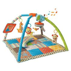 Infantino Go GaGa Deluxe Twist & Fold Gym (773554066531) Your baby will go gaga for the soft infantino go gaga deluxe twist & fold gym. This is a top item in our baby registry. It has a musical mobile, wooden teethers and plush toys with fabric tags that keep curious hands busy. Plus, there's a baby mirror toy. Best of all, you can take this deluxe activity gym and play mat anywhere. It's great for on-the-go fun. . � . Visit our baby registry for more big ideas for little ones. . �