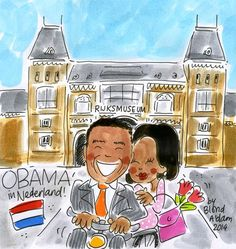 Obama visit the Netherlands, Amsterdam 24 maart 2014