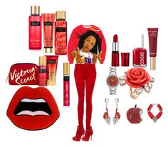 """""""Firery red"""" by misstbae ❤ liked on Polyvore featuring Charles David, Paige Denim, Essie, Too Faced Cosmetics, Ebel, Mawi, Marni, Sveva and Yazbukey"""