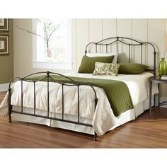 Fashion Bed Group Affinity Metal Headboard and Footboard Bed Panels with Spindles and Detailed Castings, Blackened Taupe Finish, Full Bedroom Furniture, Bedroom Decor, Mission Furniture, Bedroom Dressers, Furniture Decor, Cheap Furniture, Bedroom Sets, Master Bedroom, Shabby Chic Zimmer