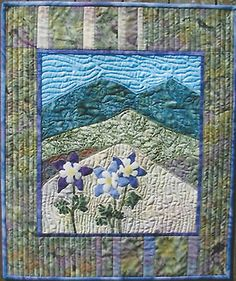 Majestic Columbines Applique Quilt Pattern by Friendship Designs
