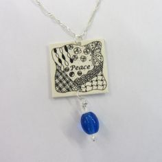 zentangle shrinky dink necklace by Nancy Dom of Zen Doodle Club