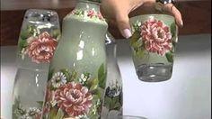 Decoupage by Mamiko Yamashita Wine Bottle Art, Wine Bottle Crafts, Mason Jar Crafts, Decoupage Jars, Decoupage Tutorial, Pot Mason, Mason Jars, Bottles And Jars, Glass Bottles