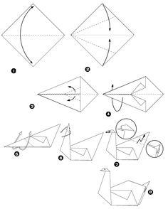 tuto origami facile cygne. Black Bedroom Furniture Sets. Home Design Ideas