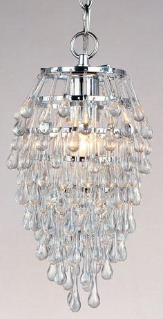 Crystal Teardrops For Chandelier: AF Lighting Crystal Teardrop 1 Light Mini Chandelier & Reviews | Wayfair,Lighting