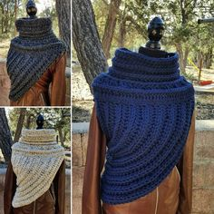 Crochet Huntress Crossbody Cowl // Hunger Games by hookandhoot