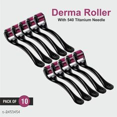 Hair Accessories Tokree Premium Choice 0.5 mm Derma Roller(Pack of 10) Product Name: Tokree 0.5 mm Derma Roller  Material: Plastic & Stainless steel   	  Brand Name: Tokree Product Type: Derma Roller Product Description: Tokree derma roller is a handheld roller-device covered in microneedles needles ranging in length from 0.25 mm to 1.5m which is rolled over the skin. This is done in order to create tiny punctures on the skin which triggers skin repair, leading to the creation of new collagen. Package Contains: It Has 10 Pieces of Derma Roller Sizes Available: Free Size *Proof of Safe Delivery! Click to know on Safety Standards of Delivery Partners- https://ltl.sh/y_nZrAV3  Catalog Rating: ★4.1 (670)  Catalog Name: Hair Tokree Premium Choice Derma Roller Vol 1 CatalogID_329104 C50-SC1815 Code: 4501-2453454-