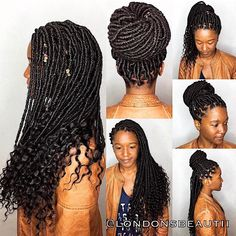 Goddess Faux Locs done by London's Beautii in Bowie, Maryland. www.styleseat.com/v/londonsbeautii  Loc Cuffs handmade by @londonsbeautiiaccessories https://www.instagram.com/londonsbeautiiaccessories/ Faux Locs Hairstyles, Permed Hairstyles, Twist Hairstyles, Black Hairstyles, Hairdos, Crotchet Faux Locs, Faux Locs Styles, Marley Hair, Bob Marley