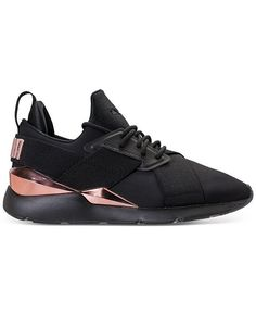 e1090069f3f Puma Women s Muse Metallic Casual Sneakers from Finish Line - Black 7
