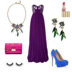 Purple bustier Cavalli #dress = gorgeous. Victoria's entry in the Formal Summer Soiree #fashion mission #outfit #contest #summerdress