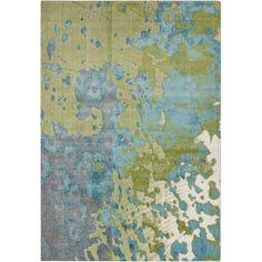 Surya Aberdine Teal/Lime Area Rug | AllModern