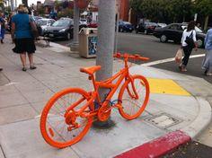 Orange Bicycles Scattered Throughout San Diego - http://www.creativeguerrillamarketing.com/guerrilla-marketing/orange-bicycles-scattered-throughout-san-diego/