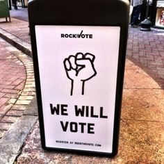 Because I want to Rock the Vote. #WhyIVote