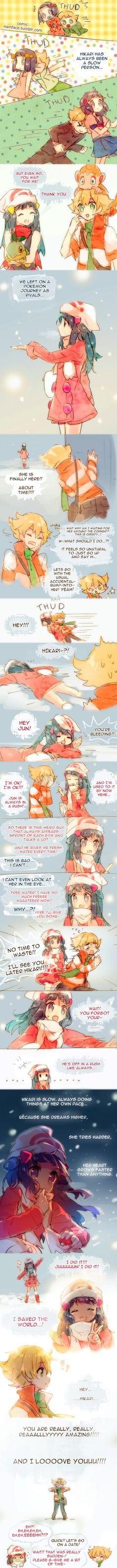 Namie-kun, Pokémon, Hikari (Pokémon), Chimchar, Turtwig, Jun (Pokémon)