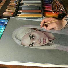 Pin by linda kardas on colored pencils inspiration in 2019 çizimler, sanat, Pencil Drawings, Art Drawings, Art Et Design, Color Pencil Art, Colored Pencil Portrait, Portrait Art, Portraits, Portrait Photography, Art Sketchbook