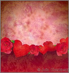 grunge red hearts and roses border red background lovely background     http://www.tpt-fonts4teachers.blogspot.com/2013/01/san-valentines-day-free-clip-arts.html