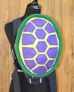 Purple Turtle Shell Bjorn Baby Carrier Cover With Huge Storage Pocket - Ready to Ship Great shower gift Boy girl baby daddy mommy diaper bag backpack