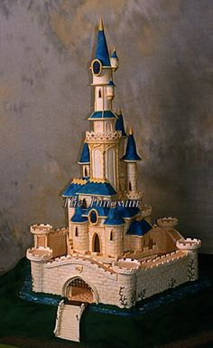 Fairy castle wedding cake.Or, new home cake. Or, we're going to the beach and this is a sandcastle cake.