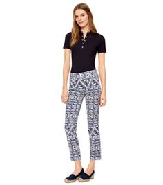 Tory Burch High-waist Cropped Skinny Jean