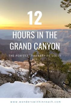 The perfect itinerary to see the Grand Canyon in a day. Ideal family hikes, drives, and scenic vistas. Arizona Travel, Arizona Usa, Travel Guides, Travel Tips, Travel Goals, Amazing Destinations, Travel Destinations, Perfect Road Trip, Us Road Trip