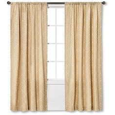 Greek Key Curtain Panel Tan 24 Liked On Polyvore Featuring Home