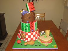 Picnic themed cake.