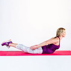 Swan dive - 24 Fat-Burning Ab Exercises (No Crunches!) - Health.com