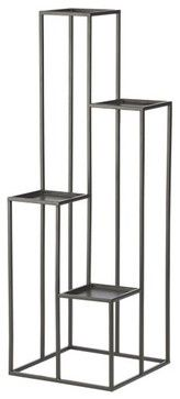 Quadrant Plant Stand - modern - outdoor planters - Crate