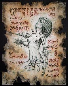 NITOCRIS succubus Necronomicon page occult demon magick dark spirit vampire horror