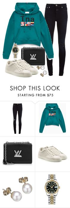 """Untitled #22444"" by florencia95 ❤ liked on Polyvore featuring Closed, Louis Vuitton, Fendi, London Road and Rolex"