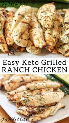 Ranch Chicken – Low Carb Keto THM FP 5 ingredients EASY Ranch Grilled Chicken – We love this Ranch Chicken all year long. My Ranch Yogurt Marinade is one of our favorite marinades for grilled chicken. It has so much flavor and only 5 ingredients. Stew Chicken Recipe, Easy Crockpot Chicken, Low Carb Chicken Recipes, Ketogenic Recipes, Grilling Recipes, Low Carb Recipes, Diet Recipes, Ranch Chicken Recipes, Dessert Recipes