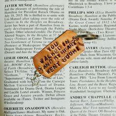 HAMILTON Broadway HELPLESS Lyrics Charm Keychain by Westeros