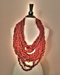 the anchorage scarf   // spice by OwlsNestCrochet on Etsy, $25.00