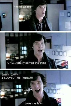 HIS. FACE.  I solved the thing!!!! Sherlock. Benedict Cumberbatch.