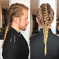 Male Viking Braids Idea 49 badass viking hairstyles for rugged men 2019 guide Male Viking Braids. Here is Male Viking Braids Idea for you. Male Viking Braids the catalog of the selective ideas for viking hairstyles. Latest Braided Hairstyles, Mens Braids Hairstyles, Cool Hairstyles, Viking Hairstyles, Hairstyles 2018, Hairstyle Ideas, Viking Haircut, Braid Styles For Men, Professional Hairstyles For Men