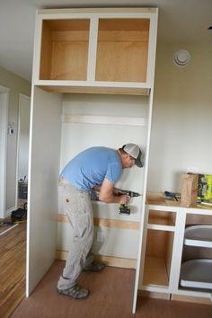 Wood Kitchen Cabinets, Kitchen Redo, Wood Cabinets, Kitchen Remodel, Kitchen Design, Outdoor Dining Furniture, Rustic Furniture, Furniture Ideas, Furniture Design