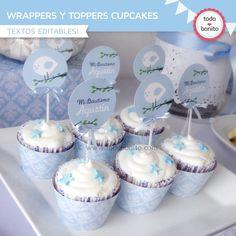 Pajarito celeste: wrappers y toppers - Todo Bonito