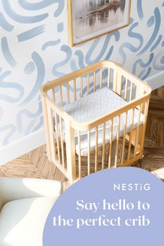 A mini-crib, full crib and toddler bed all in one. JPMA Certified to exceed safety standards. Constructed from sustainably harvested solid Brazilian Pine. Mini Crib, Wood Accents, All About Eyes, Exceed, Midcentury Modern, Nursery Ideas, Natural Wood, Cribs, Pine