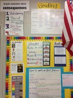 Mrs. Jahnig's Art Room  great photos and ideas of art room.