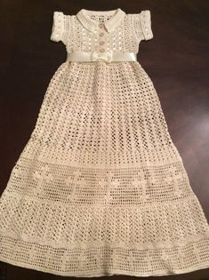 Baby Liam and Lia Crochet pattern for a boy or girl christening outfit. This is a PDF downloadable pattern. The pattern is made to fit a baby 0-6 months. The gown is 28 inches long. The instructions are for gowns, bonnets and boy and girl booties. My grandson inspired this outfit.