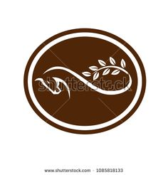 Retro style illustration of a horse with branch with leaves tail forming a mobius strip viewed from side set inside oval shape on isolated background. Signages, Retro Illustration, Oval Shape, Retro Style, Retro Fashion, Royalty Free Stock Photos, Leaves, Symbols, Horses