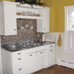 See how the owners of this 1920s bungalow renewed their kitchen for less than the cost of a refrigerator. | thisoldhouse.com