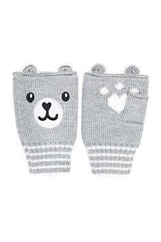 Fingerless Bear Gloves