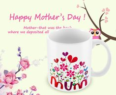 Mum  Red-Purple-Pink Heart  Perfect Gift For Mothers by MugandMore
