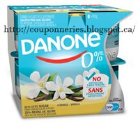 Coupons et Circulaires: 1.50$ DANONE 0% (8 x 100g)