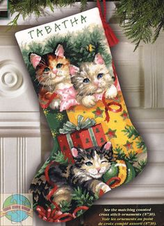 dimensions cross stitch stocking - Google Search